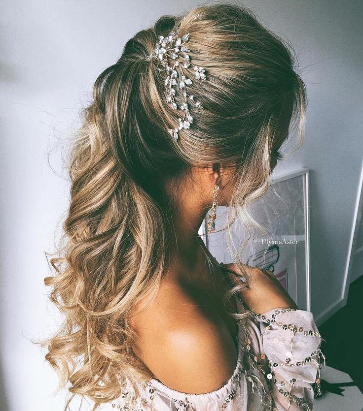 Elegant Wedding Hairstyle Idea: Half Up Half Down Wedding Hairstyles