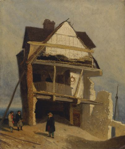 John Sell Cotman, 1782–1842, British, Ruined House, between 1807 and 1810, Oil on millboard, mounted on panel, Yale Center for British Art, Paul Mellon Collection