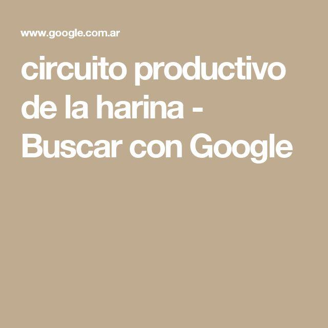 circuito productivo de la harina - Buscar con Google