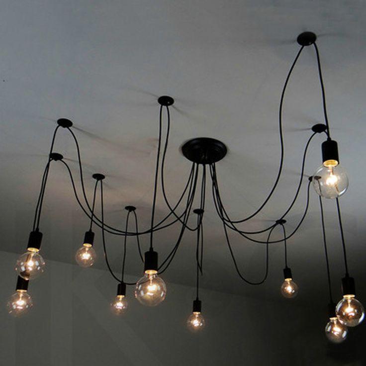 Искусство офисные личности ретро люстра легкой промышленности чердак ресторан бар много головы магазине из светодиодов лампы купить на AliExpress