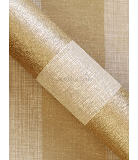 This Teramo Gold Stripe Wallpaper by Arthouse is infused with shimmering glitter particles that alternates with a matte beige stripe that has a lightly textured fabric effect finish. Free UK delivery available.