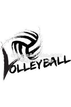 Volleyball Grunge Streaks by SportsArtZoo #volleyball #sportsartzoo