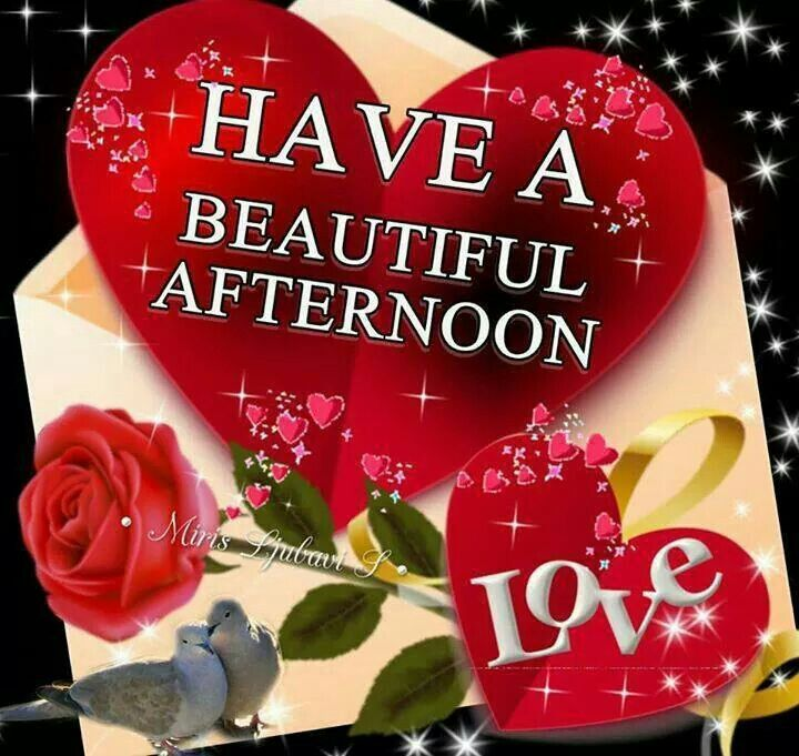 Have a beautiful afternoon,
