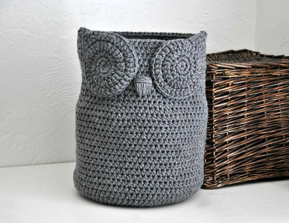 Free Crochet Patterns Owl Basket : 1000+ ideas about Owl Basket on Pinterest Crochet ideas ...
