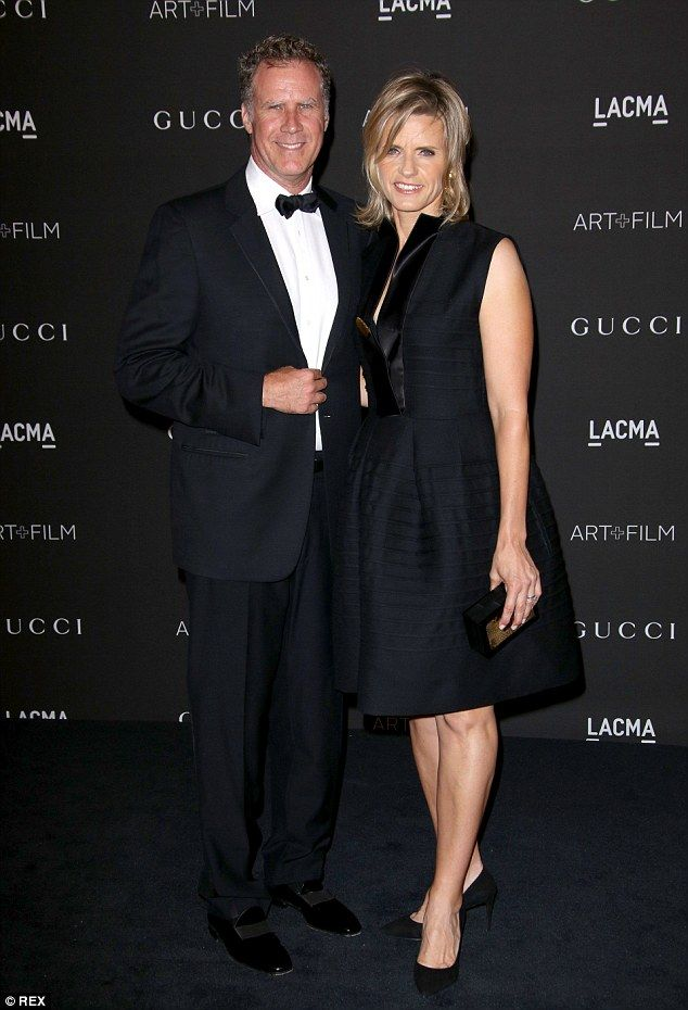 Nothing funny about this: Will Ferrell and wife Viveca Paulin made a stylish couple...