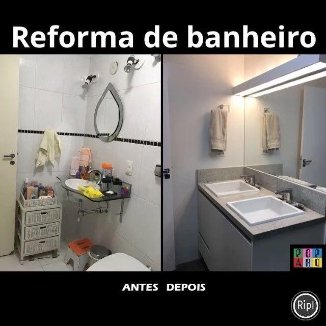 Confiram o Antes e Depois deste banheiro!