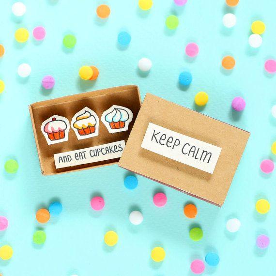 Hübsch Ermutigung Karte Matchbox zu Alphütte / von shop3xu auf Etsy