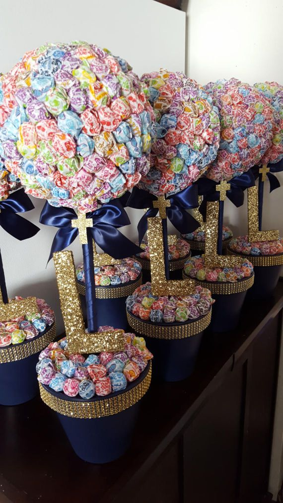 First communion baptism christening dum dums topiaries