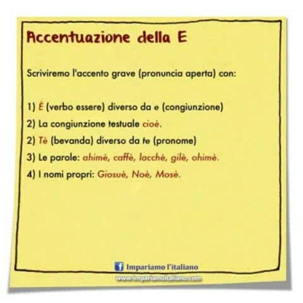 Accentazione della E #learnitalian #learningitalian #studyitalian #italianlanguage #italianteacher #italianlessons #linguaitaliana #imparareitaliano #italienischlernen #impariamoitaliano #grammartips
