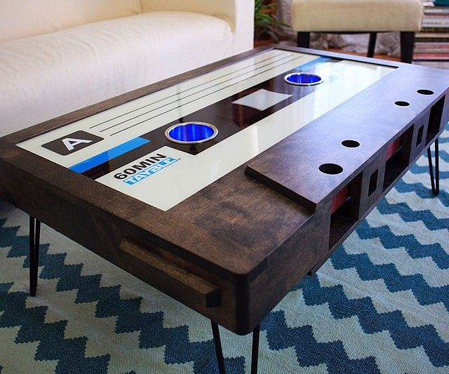 Cassette Tape Coffee Table Design