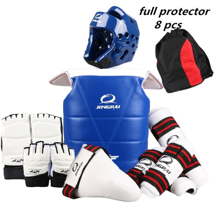 90.23$  Know more - 8 pieces one set taekwondo protectors full set child adult Helmet Chest head protector Armguards Shank protector Crotch   #magazineonlinewebsite