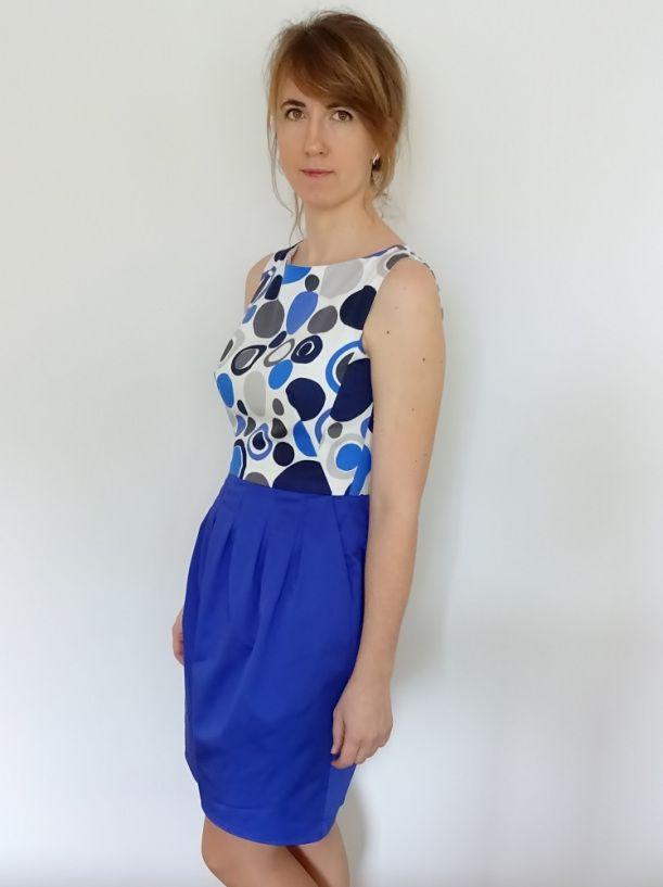 sukienka wg projektu A. Marrasa, Burda 7/2015 140; cocktail dress