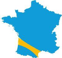 Situation de l'itinéraire en France
