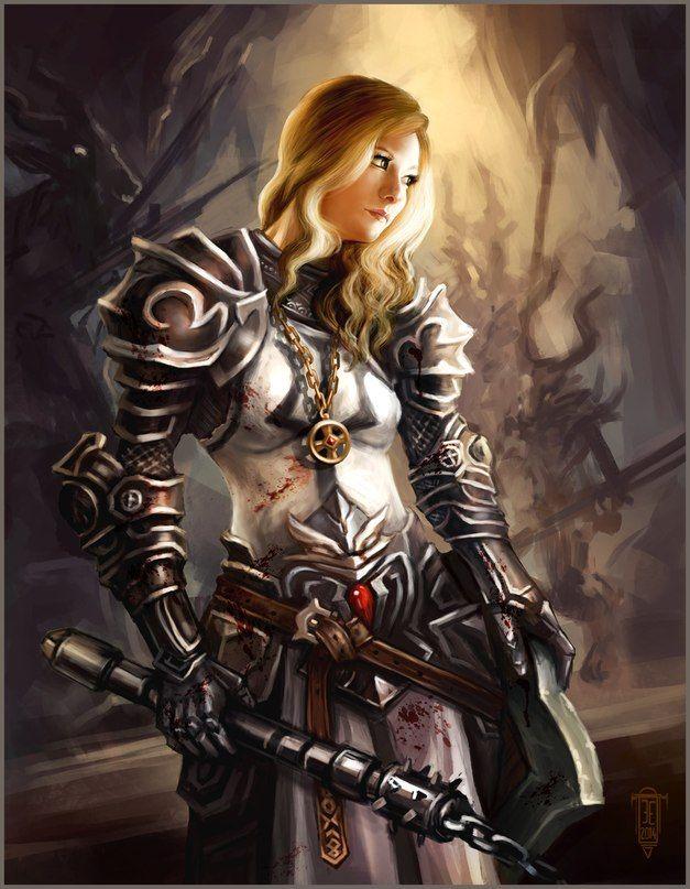 Diablo III Wallpaper #105: Female Barbs and Class Crests - Diablo ...