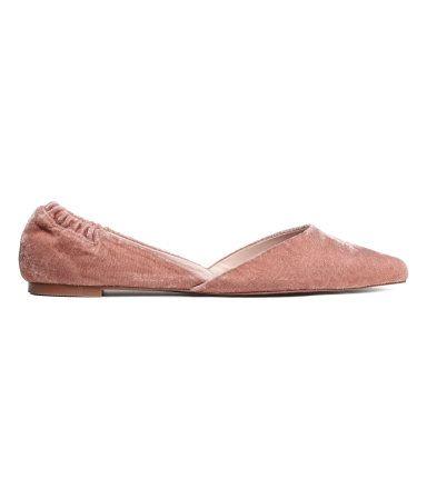 Ballerinaskor med spetsig tå | Vintagerosa | Dam | H&M SE