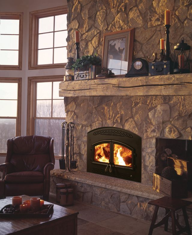 Doors Stone Fireplace : Best images about fireplaces exterior doors on