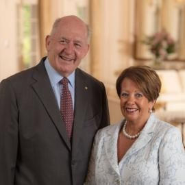 His Excellency General the Honourable Sir Peter Cosgrove AK MC (Retd) and Her Excellency Lady Cosgrove.