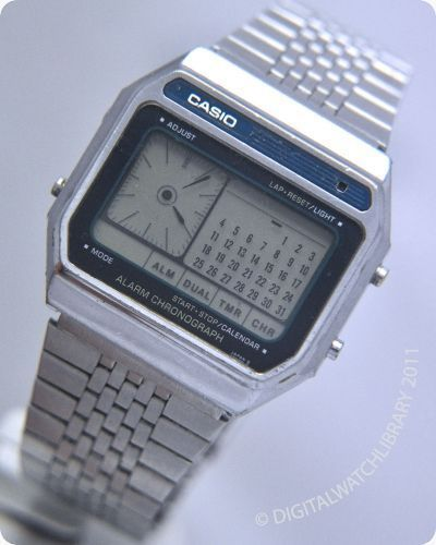 "AppleWatch > Pre-History ; ) early ""SmartWatch"" ••1982 CASIO AX-250 ""Digi-King""••  dual layer display / date / calendar / dual time / 4 alarms / countdown / stopwatch / backlight • prior to 2013 new wave: Samsung Galaxy Gear S / Moto 360 / Pebble Steel / MotoACTV / MetaWatch etc that failed due rush in desperation to rumored iWatch (be 1st not best) whose industry might finally be launched viably by AppleWatch ""9.9.2014"" as w/ SmartPhone iPhone in 2007-06-29 • via Digital-Watch"