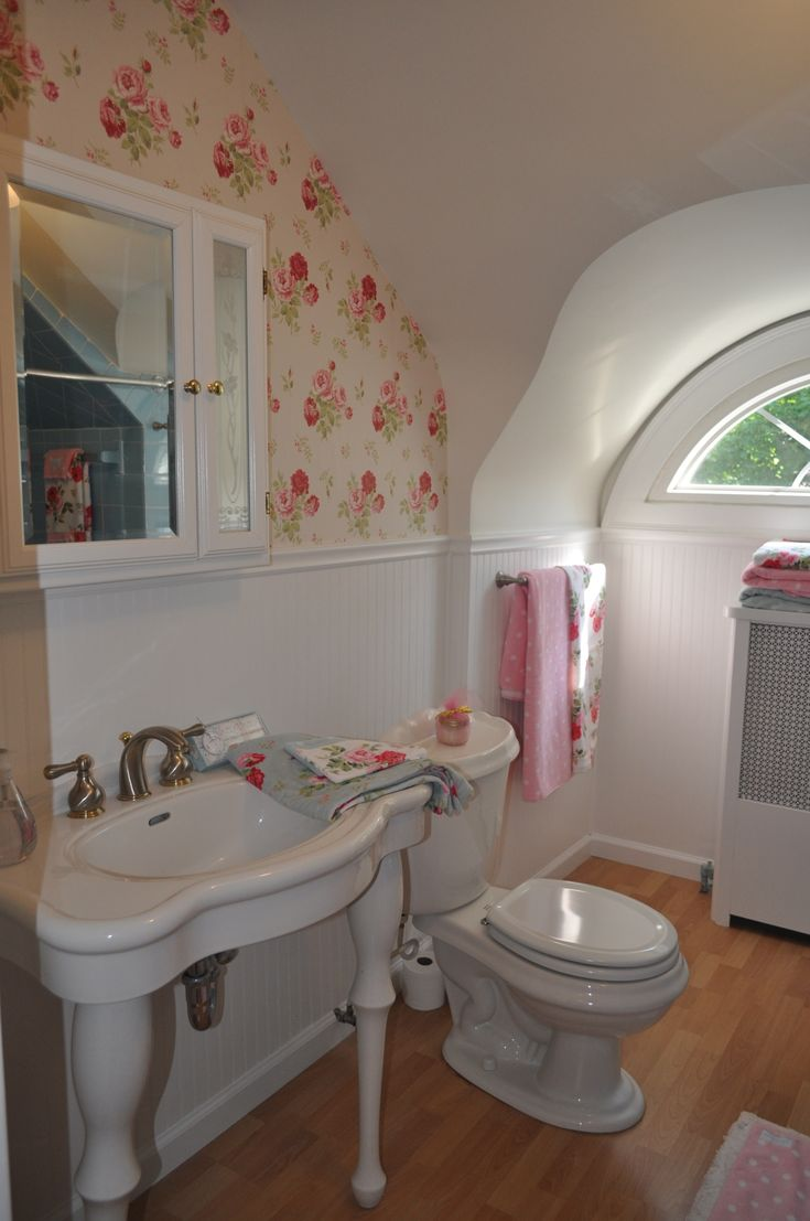 My Cath Kidstoned Up Guest Bathroom Haha Had To Make Old Retro Blue Bath Tiles Work Somehow