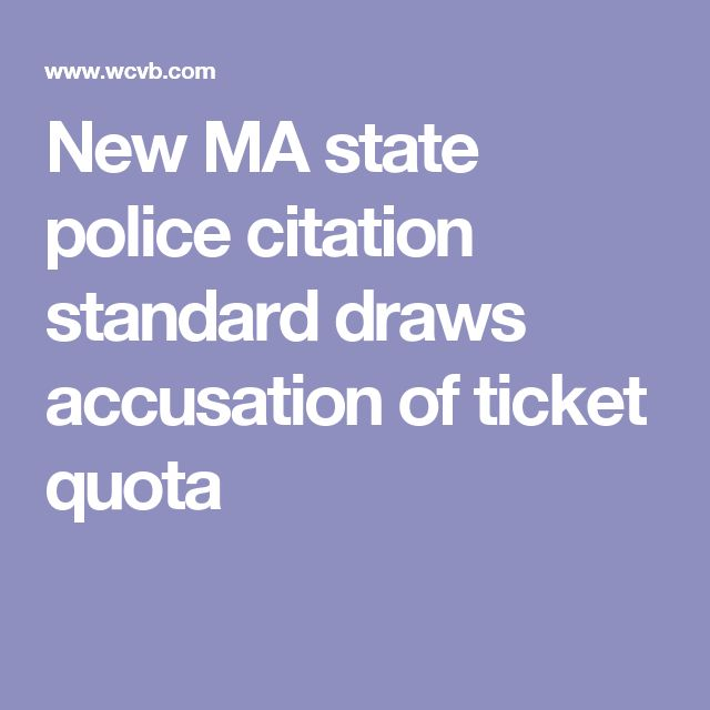 New MA state police citation standard draws accusation of ticket quota