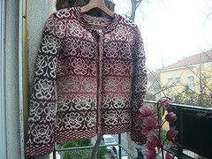 rosa Damasco (Ponto e virgula) Tags: roze bruin wit tricot breien noorse gestrand vest damast colorwork Kauni colourwork