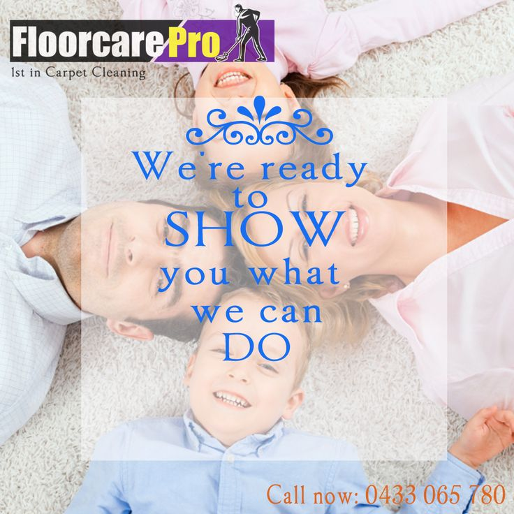 Improve the health of your family; make sure your carpets are clean and fresh...