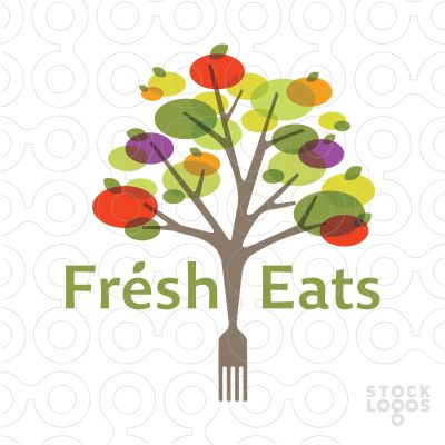 Logo Sold Modern and colorful design featuring a fruit/vegetable tree that is abstractly designed to create this bold stylized design.