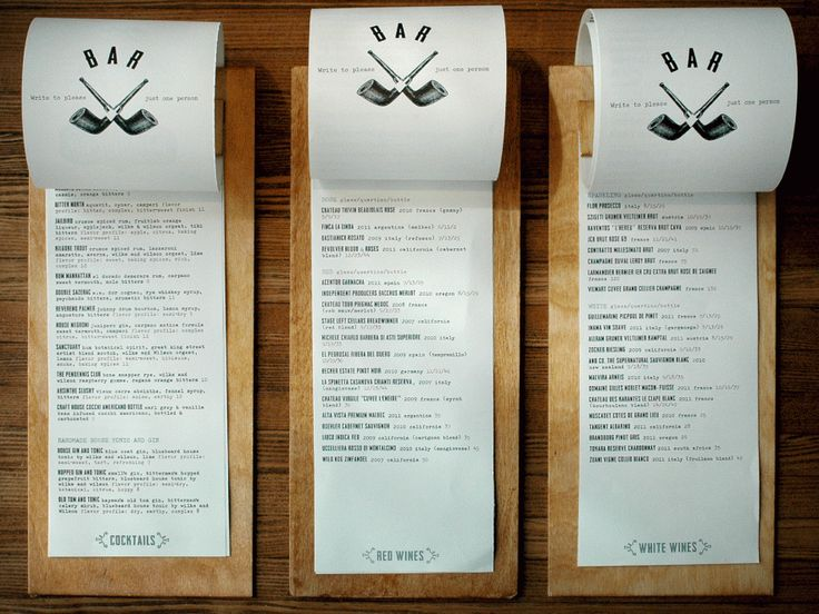 25 Best Ideas About Menu Covers On Pinterest - Inspirational