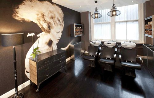 17 best images about amazing salons spas from all around for Interior stylist london