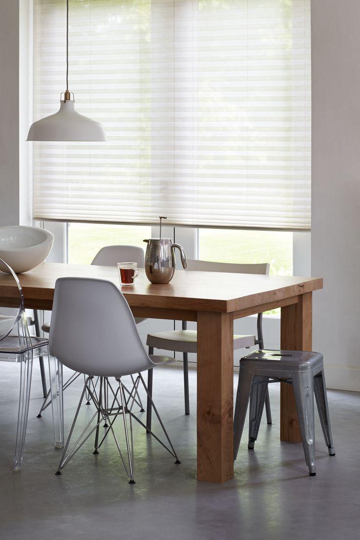 #bece #plisségordijnen #tafel #inspiratie www.bece.nl