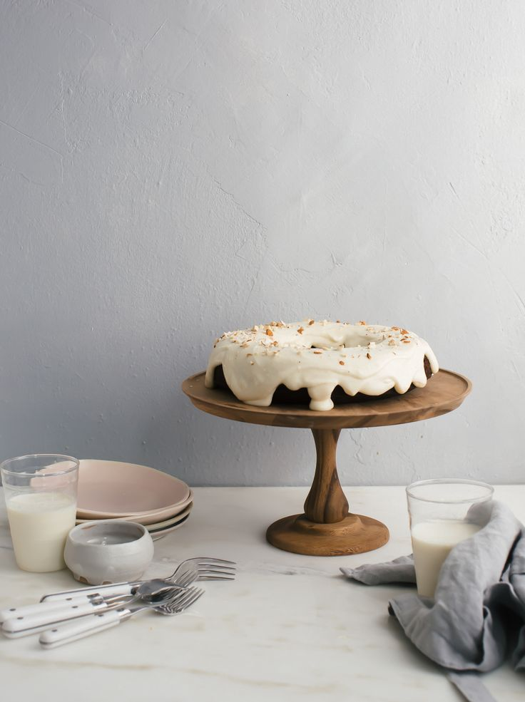 Chocolate Bundt Cake with Alomond-y Cream Cheese Frosting