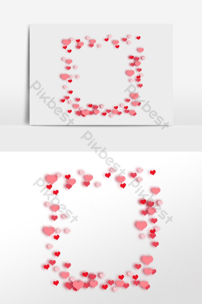 Hand Drawn Valentine S Day Red Heart Border Png Images Psd Free Download Pikbest Heart Border How To Draw Hands Download Valentines