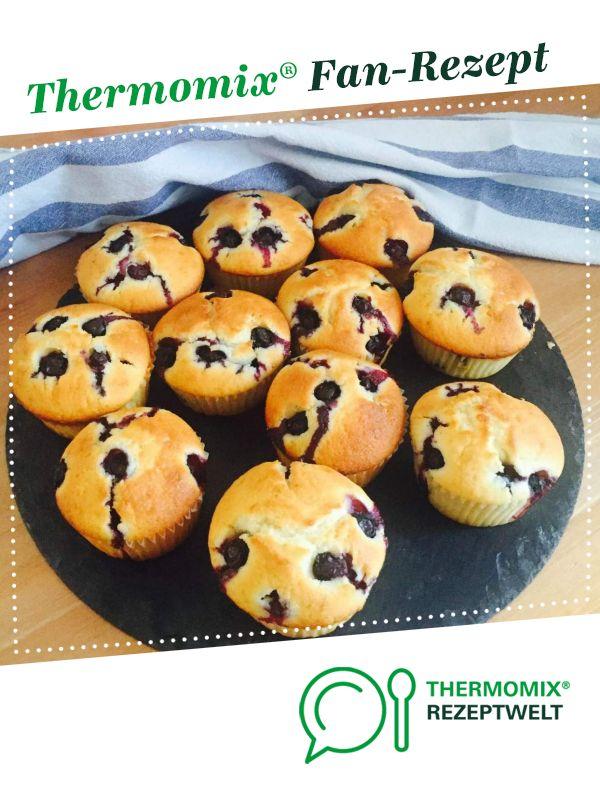 Heidelbeer-Buttermilch-Muffins   – Thermomix