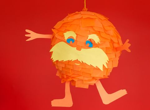 Dr. Seuss' The Lorax DIY Mini Pinata