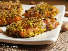 filetti di trota salmonata e pistacchi