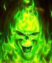 Green Flaming Skull | 〰GLOWING GREEN〰 | Pinterest