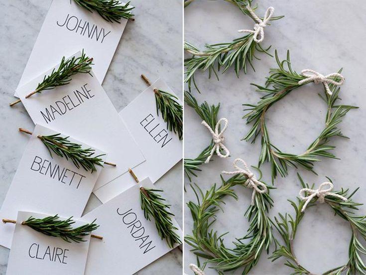 Hoe eenvoudig. Naam of menukaart versieren voor kerst