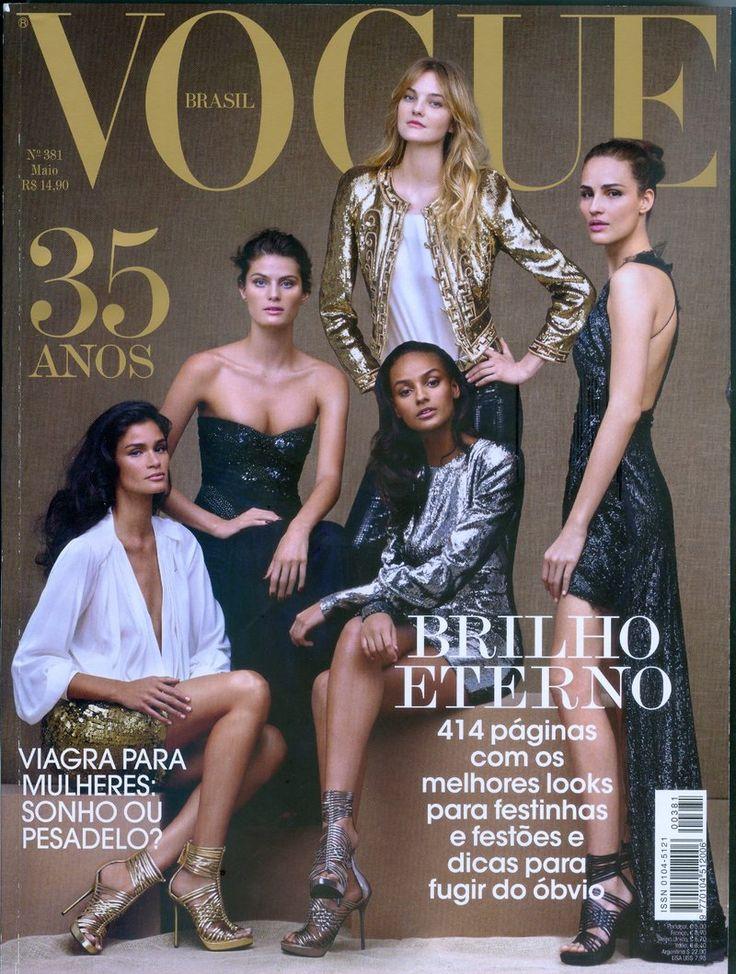 Vogue Brazil May 2010 : Caroline Ribeiro, Isabeli Fontana, Caroline Trentini, Gracie Carvalho & Fernanda Tavares by Gui Paganini