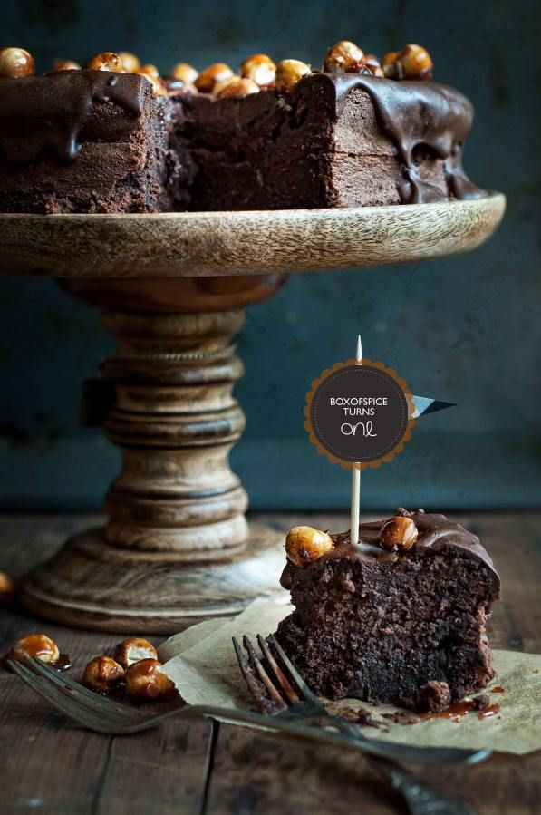 Chocolate Cake with Hazelnuts http://boxofspice.com/2013/09/30/boxofspice-turns-one-loss-of-memory/
