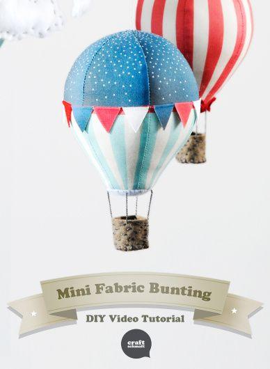 Fabric Bunting Tutorial - DIY Video from Craft Schmaft (a sneak peek into the new Hot Air Balloon iPad App).
