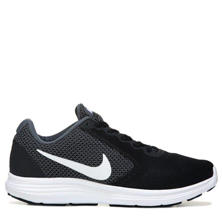 Nike Men's Revolution 3 X-Wide Running Shoes (Grey/White/Black) - 10.0 4E