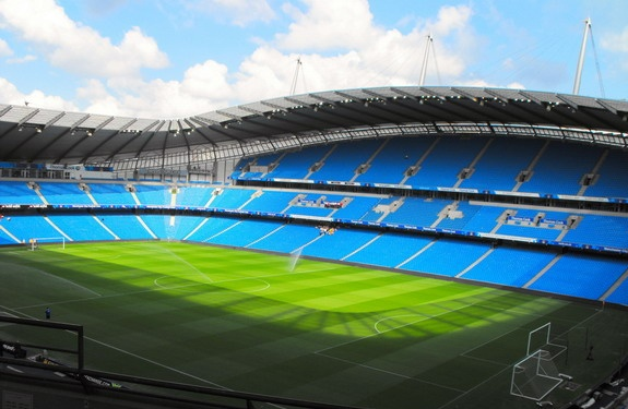 Etihad Stadium, Manchester (City of M'chester Stadium), UK. Home of Manchester City Football Club