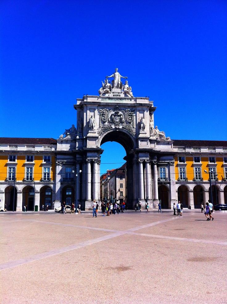 Beautiful Lisbon in Portugal - Portas de Santa Catarina