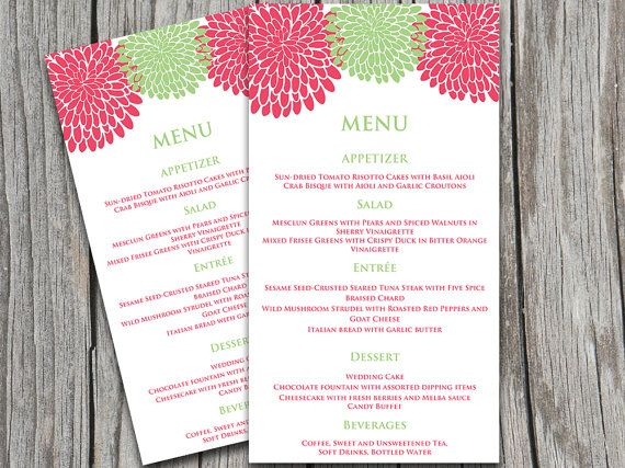 23 best Graphic Design - Menu images on Pinterest Wedding - Menu Word Template