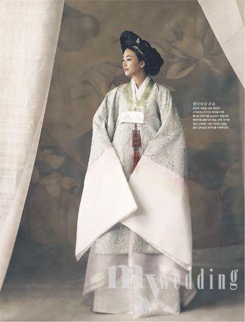 혼례복 한복 Hanbok : Korean traditional clothes[dress]  | #ModernHanbok #wedding (346×455)