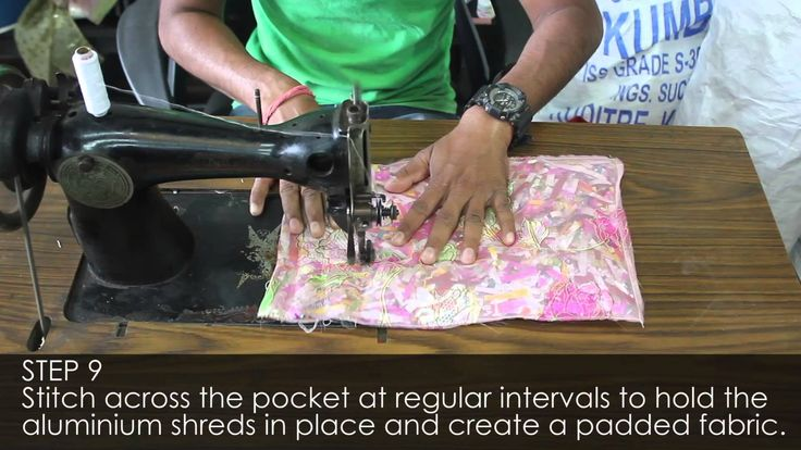 Beauty of Recycling: Making fabrics out of waste aluminium foil packets