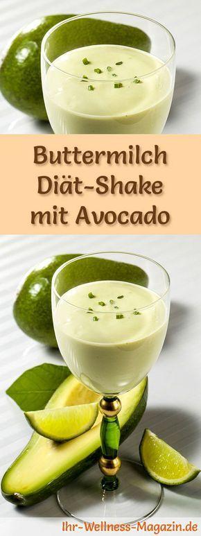 Buttermilch-Shake mit Avocado - ein Rezept mit viel Eiweiß und wenig Kalorien, perfekt zum Abnehmen, gesund und lecker ...