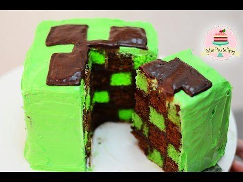 ➪ Como Hacer Brownies? en forma de CREEPER de MINECRAFT!!! (FÁCIL) - Miranda Ibañez - YouTube