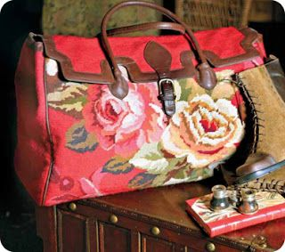Victorian style needlepoint carpet bag by Victorian Trading.