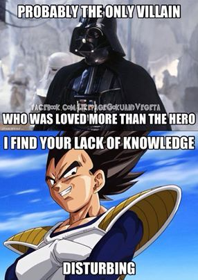 Both are great! Love Vegeta and Vader. And I have a dilemma! I don't know where to put this....anime or star wars....hmmmm.